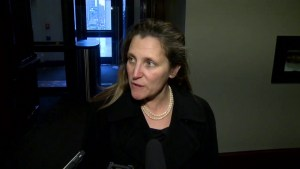 Freeland says there's a lot of support over detained Canadians following NATO, G7 meetings