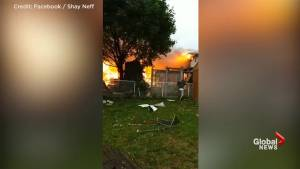 Neighbour captures dramatic moments following explosion in Kitchener