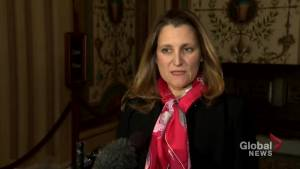 Freeland says they won't reopen negotiations over issues raised by some U.S. lawmakers