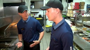 McHappy Day: Jeff McArthur returns to his old job at McDonald's