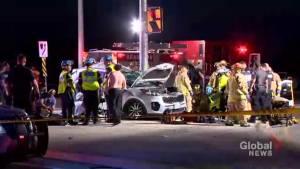Police respond to fatal crash in Brampton leaving 1 dead, 5 injured including children (00:59)