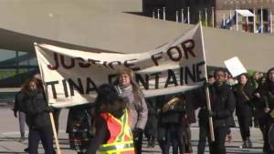 Toronto Indigenous youth protest Boushie, Fontaine verdicts