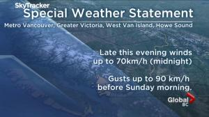 Heavy rain, wind and snow in the forecast for much of B.C.
