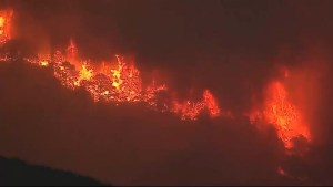 Aerial footage: California wildfires continue to burn out of control