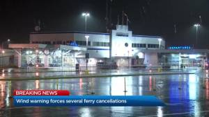 Wind warning forces BC Ferries to cancel sailings