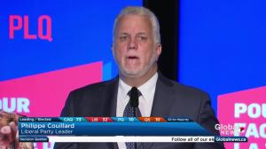 Quebec Election: Couillard tells Anglophones 'you are like us, first-class Quebecers'