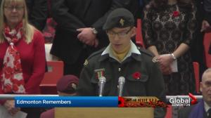 "Recitation of ""In Flanders Fields"" at Edmonton"