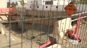 """City tells appeal board Capital Pointe hole is """"unsafe"""" amid calls for the site to be decommissioned"""