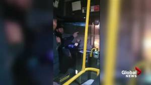 Video shows bus driver eject passenger after she allegedly made contact with him