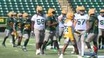 Eskimos' defence prepares to face the Redblacks