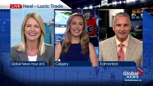 Global Calgary and Edmonton sports anchors weigh in on Lucic and Neal trade