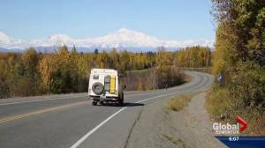 Adventure seekers stop in Edmonton on world-wide road trip