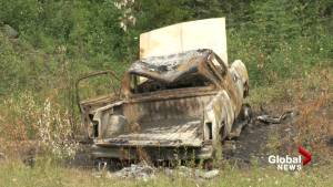 Burned out truck found near Dease Lake allegedly connected to BC double murder suspects