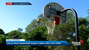 Mayor Tory says Toronto should be putting basketball hoops up, not taking them down