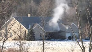 A passerby spots smoke coming from a rural property north of Kingston