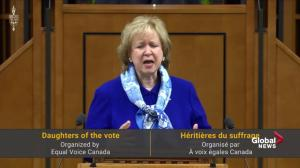 Kim Campbell gives rousing speech at Daughters of the Vote event