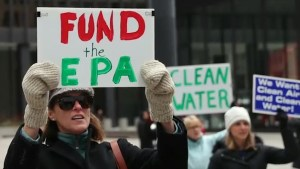 U.S. scientists rally in Washington to protest Trump policies on Earth Day