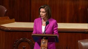 Nancy Pelosi responds to Trump comments about Congresswomen, says they are 'racist' (00:51)