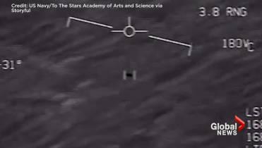 UFO encounter captured on declassified U S navy pilot's video