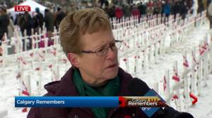 Field of Crosses volunteer finds father's cross during project