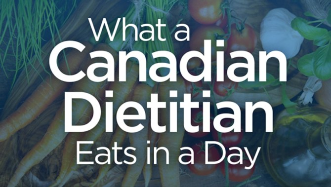 Here's what a top Canadian registered dietitian eats in a day