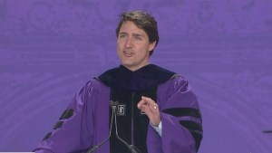 Trudeau speaks at NYU, talks NAFTA with CEOs