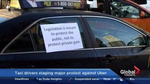 Taxi drivers staging major protest against Uber in Toronto