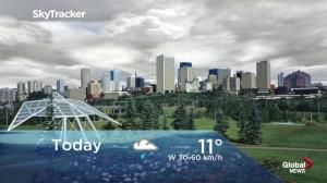 Edmonton early morning weather forecast: Monday, June 11, 2018