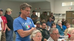 South Okanagan residents express frustration at flood information meeting