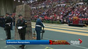 2018 Remembrance Day ceremony at Edmonton's Butterdome