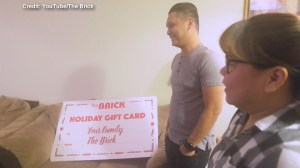 The Brick surprises one Fort McMurray family with gift to help them rebuild