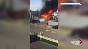 Silverado resident captures video of garage engulfed in flames