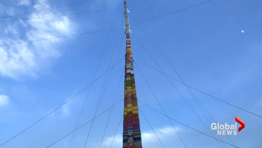 Tel Aviv attempts plastic brick record with 36-meter tower