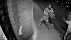 Police release surveillance video of illegal dispensary murder to identify suspects (01:08)