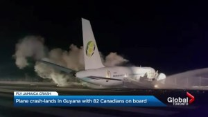 Toronto-bound plane makes crash landing in Guyana