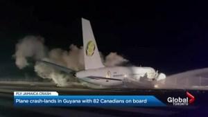 Toronto-bound plane makes crash landing in Guyana