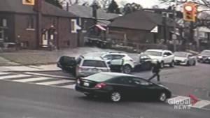 East York crash , police pursuit caught on camera