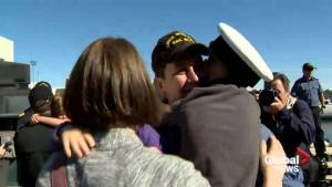 HMCS Windsor returns to Halifax after five-month deployment