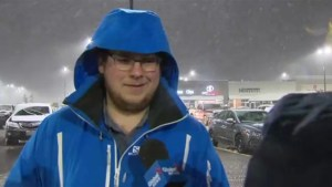 Winter weather arrives in Barrie
