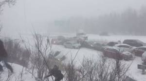 Fifty-vehicle pileup on highway 10 near Magog