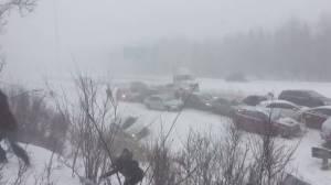 Fifty-vehicle pileup on highway 10 near Magog