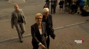 Kathleen Wynne arrives at courthouse in Sudbury
