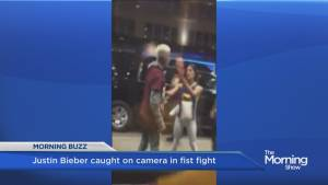 Justin Bieber caught on camera in fist fight