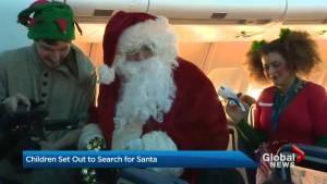 A flight to find Santa