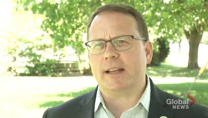 Ontario Green Party Leader Mike Schreiner visits Peterborough