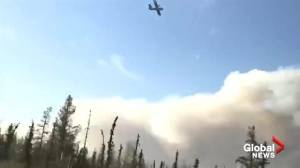 Amateur video shows crews fighting wildfires in Alberta's Slave Lake forest area