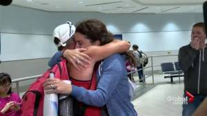 Canadians return home from the Caribbean after weathering Hurricane Irma (00:48)