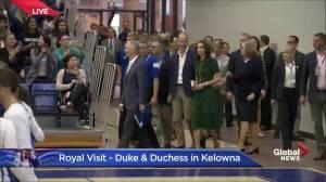 Prince William and Kate arrive at gymnasium inside UBC Okanagan