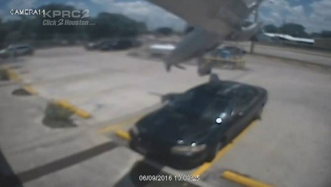 Plane Crashes Into Car In Parking Lot
