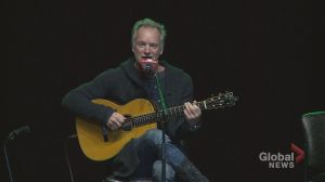 Sting performs in solidarity with GM workers in Oshawa